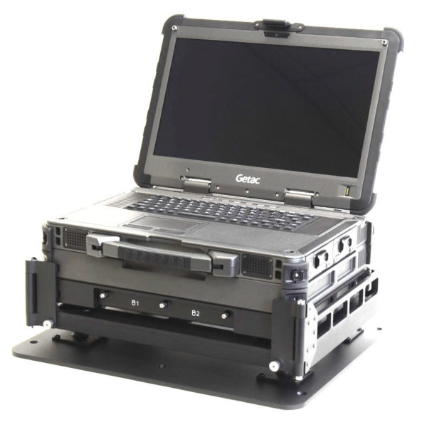 X500 Installed in Laptop Aircraft Mount Isolators