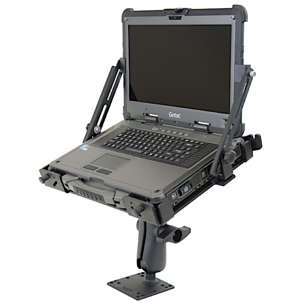 Rugged Swivel Mount X500-Vibration Support with Laptop
